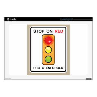 Stop on red Photo enforced Sign Decals For Laptops