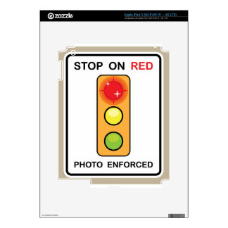 Stop on red Photo enforced Sign iPad 3 Decal