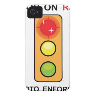 Stop on red Photo enforced Sign iPhone 4 Case-Mate Case