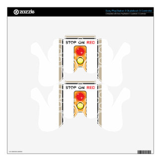 Stop on red Photo enforced Sign PS3 Controller Skin