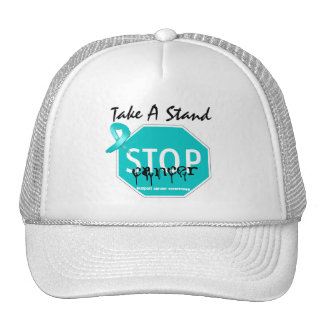 Stop Ovarian Cancer Take A Stand Trucker Hat