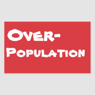 STOP Overpopulation Stop Sign Sticker