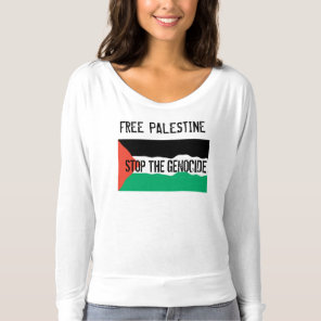 STOP PALESTINIAN GENOCIDE T-SHIRT