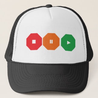Stop, Pause, Go! Trucker Hat