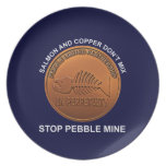 Stop Pebble Mine Party Plate