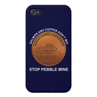 Stop Pebble Mine - Pebble Mine Penny Cover For iPhone 4
