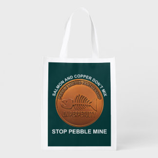 Stop Pebble Mine - Pebble Mine Penny Grocery Bag