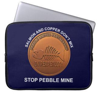 Stop Pebble Mine - Pebble Mine Penny Laptop Sleeve