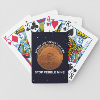 Stop Pebble Mine - Pebble Mine Penny Bicycle Poker Cards
