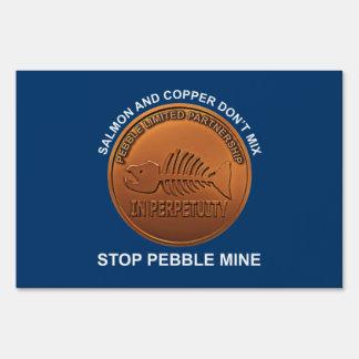 Stop Pebble Mine - Pebble Mine Penny Sign