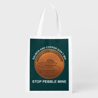 Stop Pebble Mine - Pebble Mine Penny Grocery Bags