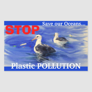 STOP Plastic Pollution Stickers