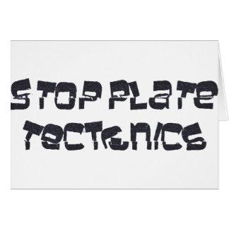Stop Plate Tectonics Card
