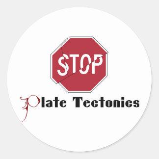 Stop Plate Tectonics Classic Round Sticker