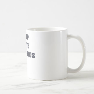 Stop Plate Tectonics Classic White Coffee Mug