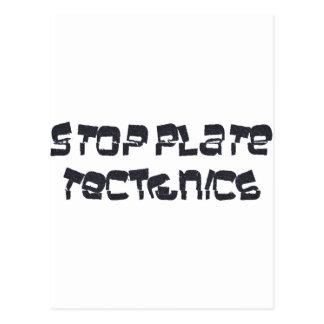 Stop Plate Tectonics Postcard