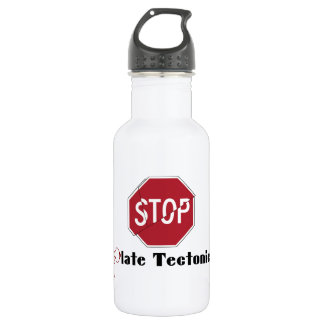 Stop Plate Tectonics Stainless Steel Water Bottle