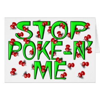 Stop Poke-N' Me (Push Pins) Greeting Card