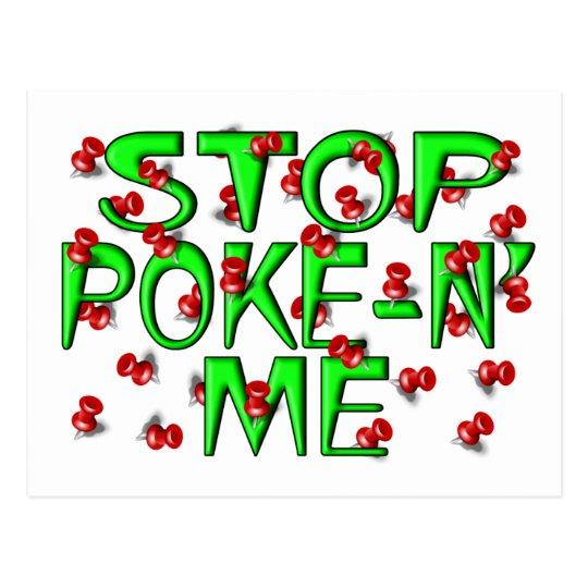 Stop Poke-N' Me (Push Pins) Postcard