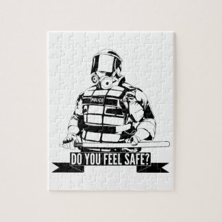 Stop Police Brutality Art for Occupy Movements Jigsaw Puzzles
