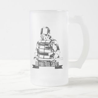 Stop Police Brutality Art for Occupy Movements 16 Oz Frosted Glass Beer Mug
