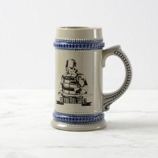 Stop Police Brutality Art for Occupy Movements 18 Oz Beer Stein
