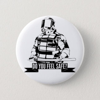Stop Police Brutality Art for Occupy Movements Pinback Button