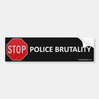 stop police brutality car bumper sticker