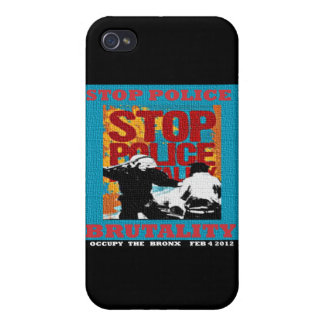 Stop Police Brutality, Occupy the Bronx Flyer 2012 iPhone 4 Cover