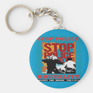 Stop Police Brutality, Occupy the Bronx Flyer 2012 Basic Round Button Keychain