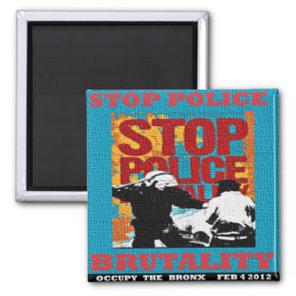 Stop Police Brutality, Occupy the Bronx Flyer 2012 Magnet