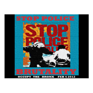 Stop Police Brutality, Occupy the Bronx Flyer 2012 Post Card