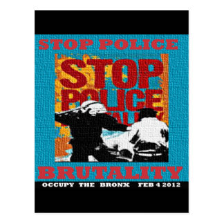 Stop Police Brutality, Occupy the Bronx Flyer 2012 Postcard