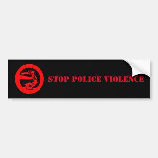 Stop Police Violence Bumper Sticker