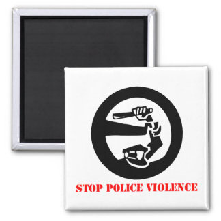 Stop Police Violence 2 Inch Square Magnet