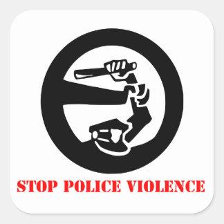 Stop Police Violence Square Sticker