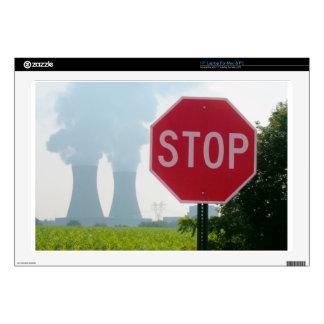 "Stop Pollution 17"" Laptop Skin"