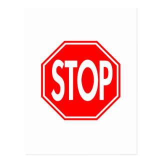 Stop Post Card