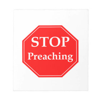 Stop Preaching Notepad