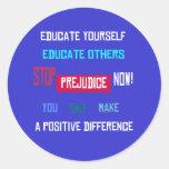 Stop Prejudice (alt) Sticker