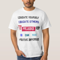 Stop Prejudice Branded Light T-Shirt