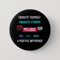 Stop Prejudice Button (black)