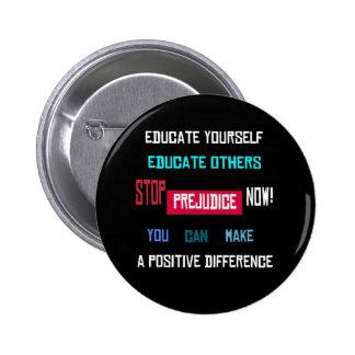 Stop Prejudice Button (black)