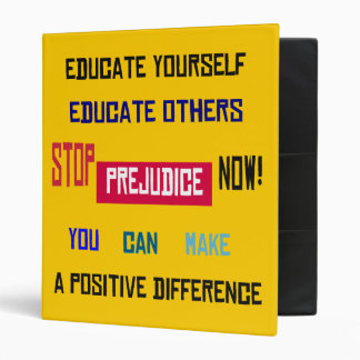 Stop Prejudice Now Binder