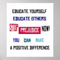 Stop Prejudice Now! Poster