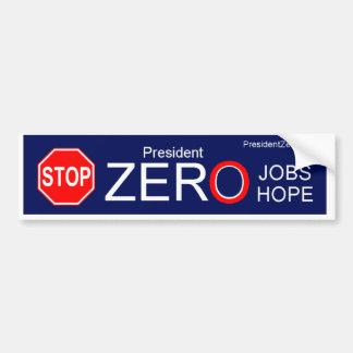 STOP PRESIDENT ZERO CAR BUMPER STICKER