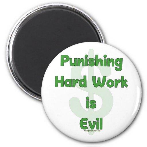 Stop Punishing Hard Work 2 Inch Round Magnet