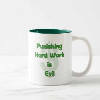 Stop Punishing Hard Work Two-Tone Coffee Mug