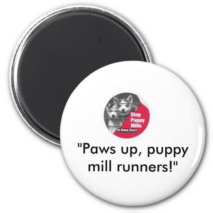 Stop Puppy Mills 2 Inch Round Magnet
