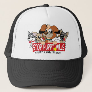 STOP Puppy Mills: Adopt A Shelter Dog Trucker Hat